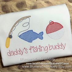 BlumersEmbroidery shared a new photo on Etsy Machine Embroidery Gifts, Hand Embroidery Art, Embroidery Monogram, Applique Embroidery Designs, Boat Shirts, Baby Ballerina, Man Caves, Camping Ideas, Bobber