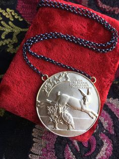 French Hare and Tortoise Medallion Necklace 18K Gold Plated Rabbit and Turtle Jewelry by SacredBarcelona on Etsy