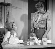 James Dean and Liz Taylor in one of my favorites he never got to finish