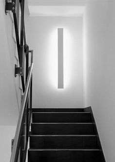 Example interior lighting by Lux-Lichtgestaltung - . Staircase Lighting Ideas, Stairway Lighting, Interior Lighting, Home Lighting, Lighting Design, Industrial Lighting, Ceiling Design, Lamp Design, Stairway Walls