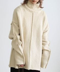 How To Purl Knit, What To Wear, Knitwear, Big Sweater, Coral, Knitting, Sweaters, Ootd, Clothes
