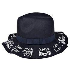 3970f59a2c7fa1 Amazon.com: Vbiger Fashion New Women Vintage Wool Round Fedora Cloche Cap Wool  Felt Bowler Hat (Black): Clothing
