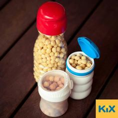 Re-use any container for an on the go snack container.