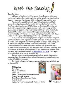 welcome letter to parents preschool for the