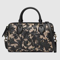 Gucci Women - Arabesque GG Supreme top handle bag - 409529KLQPN9769