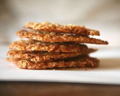 Pecan oatmeal -Lace Cookies