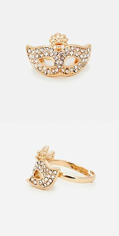 Masquerade pave ring // theatrical.
