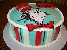 A Cat in the Hat cake! It looks delicious, but it's probably too challenging for me to make.