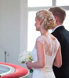 Real wedding in Finland. Dress by Pukuni (www.pukuni.fi).