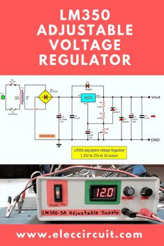 The voltage regulator is DC adjustable power supply, high-performance. It can apply voltage output to so have a few components. If you add two diode series with the output to reduce voltage start with This… Power Electronics, Electronics Basics, Electronics Projects, Electronic Circuit Projects, Electronic Engineering, Electrical Engineering, Power Supply Design, Battery Charger Circuit, Electrical Circuit Diagram