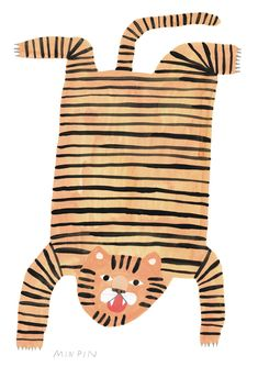 Min Pin is an illustration based design label that specializes in fine jewellery, ceramics and textiles. Min Pin believes in compassionate design, quality workmanship, sustainability and fun! Tiger Rug, Tibetan Rugs, Work With Animals, Animal Party, Bird Prints, Pet Shop, Art Blog, Illustrators, Original Art