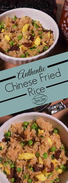"""Authentic Chinese Fried Rice. Watch the Youtube video: https://youtu.be/_o13MP_Rg9g  Everyone should know how to """"Fry Rice.""""  Here we show you one of the ways we make authentic Chinese Fried Rice.  A simple formula we share will have you adapting this recipe to anything you have in your fridge!"""
