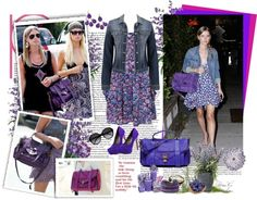 """""""Nicky's Proenza Schouler PS1 in Purple rain - get the look !"""" by firstclass1 ❤ liked on Polyvore"""