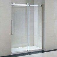 Ove Decors Sliding G Door 58 X 78 Tall 1 2 Thick Glass Frameless Shower Door Chrome F Shower Doors Frameless Sliding Shower Doors Shower Enclosure
