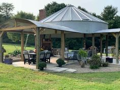 Backyard Pavilion, Backyard Gazebo, Backyard Patio Designs, Backyard Projects, Outdoor Projects, Backyard Landscaping, Outdoor Rooms, Outdoor Gardens, Outdoor Living