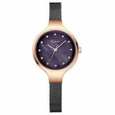 KIMIO Simple Ladies Bracelet Diamond Woman Watches Quartz Watches Women Fashion Watch 2018 Brand Women's Watches For Women Clock From Touchy Style Outfit Accessories. Cheap Watches, Watches For Men, Woman Watches, Rose Gold Watches, Quartz Watches, Black Watches, Ladies Dress Watches, Mesh Band, Stainless Steel Mesh