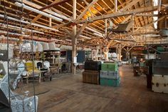 Found Vintage Rentals. Can't get over their warehouse studio! Vintage decor galore!