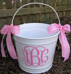 Personalized Easter Bucket 10 QT assorted colors by twosisters76