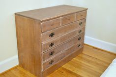 Taking a Goodwill dresser from drab to fab in one weekend with Behr paint. www.chatfieldcourt.com
