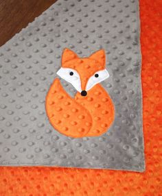Fox Minky Baby Blanket