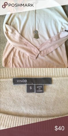 MWOT Vince Dye Dipped Sweater Top 70% Wool, 30% cashmere, never been worn Vince Sweaters Crew & Scoop Necks