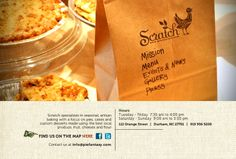 Scratch is located in Durham, North Carolina. They were named one of the Top 10 Places for Pie by Bon Appetit.