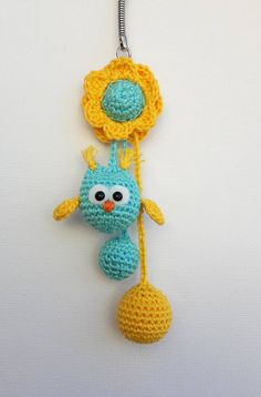 Crochet Owls, Hand Crochet, Crochet Keychain, Crochet Necklace, Amigurumi For Beginners, Key Fobs, Amigurumi Doll, Holidays And Events, Free Pattern