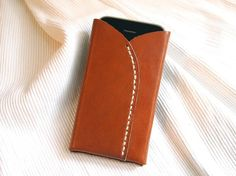 Personalized iPhone 4 Case - Leather - Hand Stitched