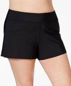 Swim Solutions Plus Size Swim Shorts, Created for Macy's - Swimwear - Plus Sizes - Macy's