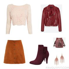 Look Ideas With Coast Top Red Jacket Skirt And Brown Shoes From September 2016 #outfit #look