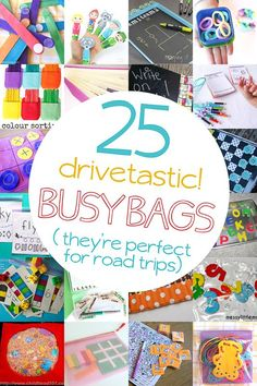 Busy Bag Ideas for Road Trips A slew of busy bag ideas to have ready for our next road trip!A slew of busy bag ideas to have ready for our next road trip! Kids Travel Activities, Road Trip Activities, Road Trip Games, Car Activities For Toddlers, Road Trip Crafts, Travel Toys For Toddlers, Indoor Activities, Summer Activities, Family Activities