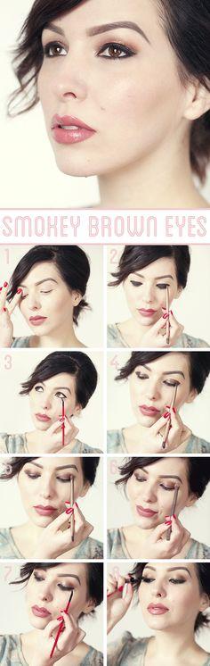 Holiday Makeup Idea: Smokey Brown Eye Tutorial