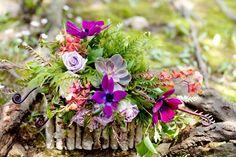 woodsy succulents centerpiece