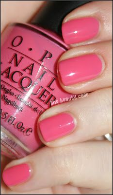 OPI Elephantastic Pink. I'm not crazy about pink nails, but this... maybe. Just maybe.