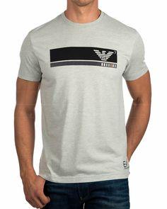 Camisetas EA7 Emporio Armani ® Gris Claro |ENVIO GRATIS