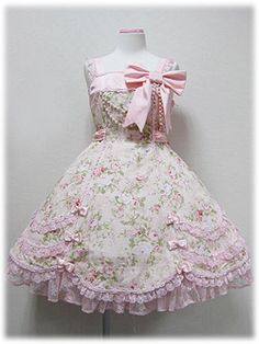 Angelic Pretty / Jumper Skirt / Fleur Humming JSK - click to see better pictures from hello lace