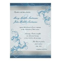 Sky Metallic Effect Floral Border Changeable BG Announcement