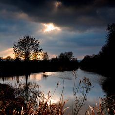 River reflections, Barcombe, East Sussex.  Birthplace of Great-great-great grandmother, Amelia Potter, nee Morley