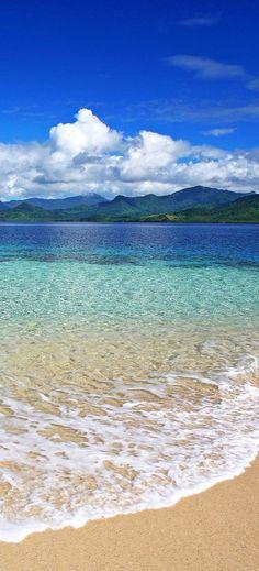 Blue Sky Lake Water-iPhone Wallpaper