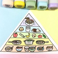 Happy National Cereal Day! Cereals are the base for a healthy diet! ✨ Here's my personal food pyramid ♀️ Cereals & Yogurt Home cooked food Fruits & Veggies Cookies, Milk & Lava Cake Ramen ✨ How does your personal food pyramid look like? ✨ • • #nationalcerealday