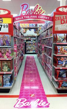 Retail Point of Purchase Design | POP Design | Toys & Games POP | Barbie Pink Carpet