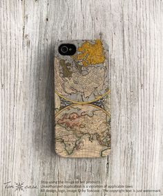 Map iPhone 5 case map @Mary Powers Powers Hutek