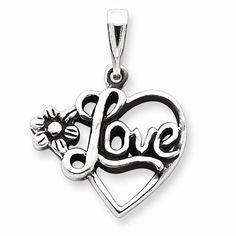 Sterling Silver  Love Pendant   JD Jewelers   Midland and Gladwin, MI