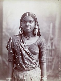 old 19th century children photos - Google Search A young Indian woman in Bombay, circa 1865. (Photo by Hulton Archive/Getty Images)