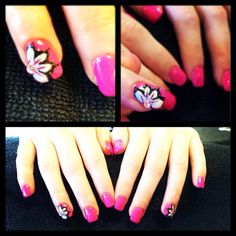 Pink fun nails done by Tammie aiwekhoe @FLIRT ESTHETICS book today and get yours www.flirtesthetics.com nails #esthetician #nails #shallac #spa #nailart