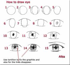 How to draw eye and eyelashes