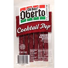 Oh Boy Oberto Classics Cocktail Pep Smoked Sausage Sticks 3Ounce Package Pack of 8 >>> Visit the image link more details. Note:It is affiliate link to Amazon.