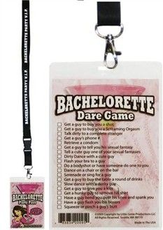Bachelorette Party Games VIP Pass on Lanyard Do this but instead of dare we make it a scavenger hunt! Go get 'em, Megs! Bachelorette Dares, Bachlorette Party, Bachelorette Party Games, Bachelorette Party Checklist, Disney Bachelorette, Shower Party, Bridal Shower, Dare Games, Always A Bridesmaid