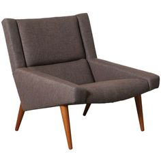 Danish Modern Lounge Chair | From a unique collection of antique and modern lounge chairs at https://www.1stdibs.com/furniture/seating/lounge-chairs/