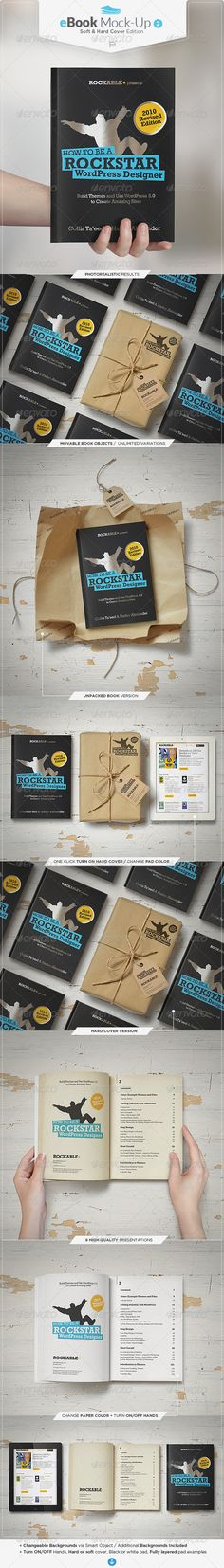 eBook Mock-Up Set 2 / Soft & Hard Cover Edition  #pad #paper #presentation • Available here → http://graphicriver.net/item/ebook-mockup-set-2-soft-hard-cover-edition/6887101?s_rank=97&ref=pxcr